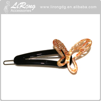 Young women housewife type korean hair clips design for long hair