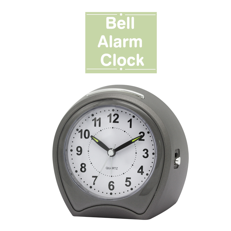 2017 New arrival Table bell alarm clock with grey cloro