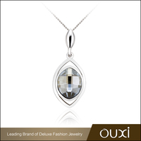 OUXI Jewelry Simple Design S925 Silver Pendant Necklace