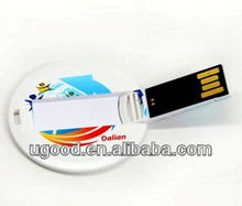wholesale usb webkey card round-shaped usb 2.0 Full Corlor Printing Business Card,high speed usb card,usb flash card