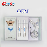 Android or iPhone charged Private Label new style Blue Led Light teeth Whitening kit