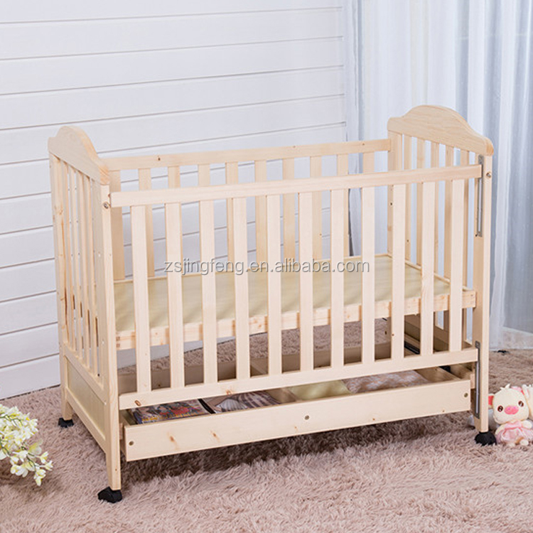 Automatic Wooden Toddler Bed Crib Baby Cradle Swing Bed