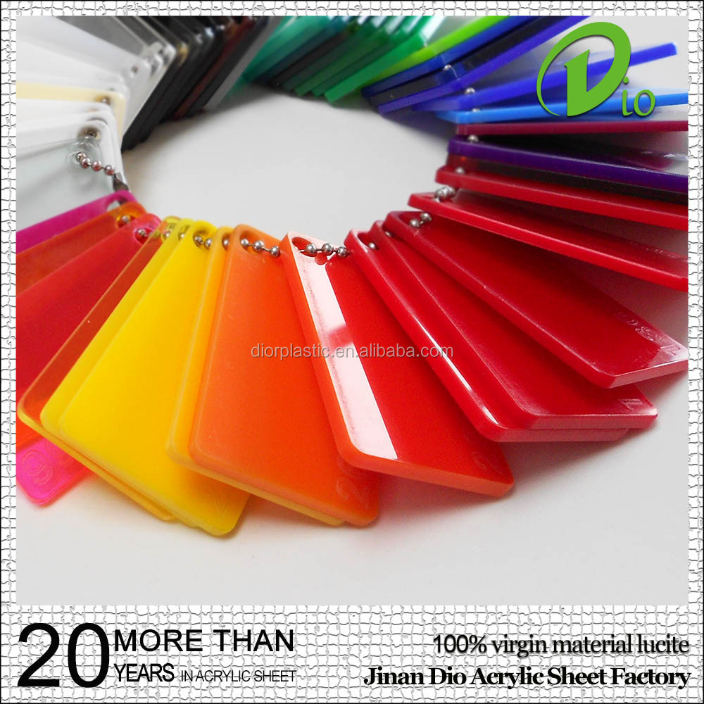 acrylic advertising board high gloss not fade 6mm colorful plexiglass plate