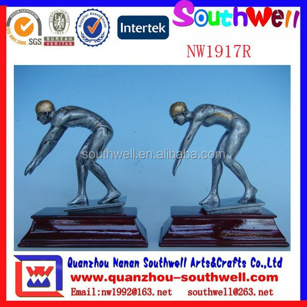 new item resin material sports swimming figurine for swimming player
