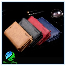 Deluxe PU leather wallet phone case for Samsung galaxy note3/4/5/7 with speical crad slot and reasonable in price