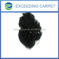 Recycled dope dyed 4.5D& 6D black regenerated PSF PET FIBER Polyester staple fiber for non-woven or yarn spinning