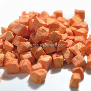 Natural snack food vegetable chips carrot dice in bulk package