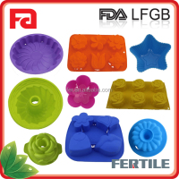WJL 113071 high quality funny shape silicone cake mould /silicone bakeware set
