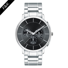 New design high quality wholesale price stainless steel Custom your logo brand men chronograph watches