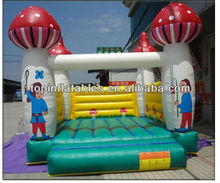 Top quality mushroom cartoon inflatable bouncy castle/juegos inflables for sale