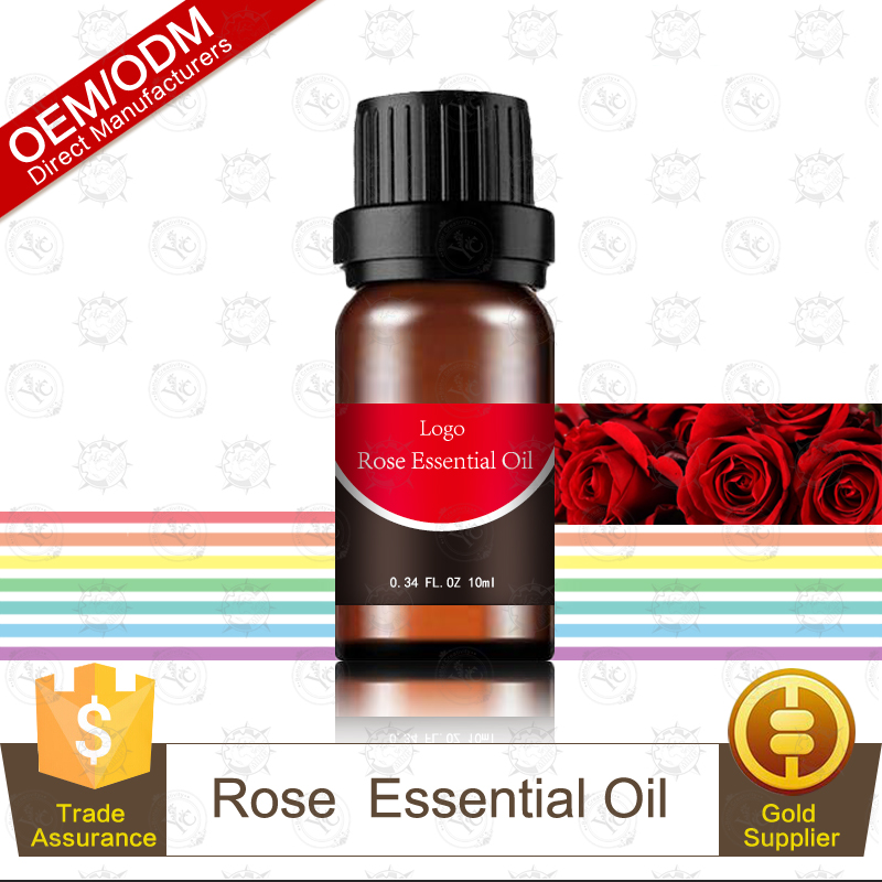 Therapeutic Grade Pure Natural Rose Essential Oil from France 10ml OEM Supply