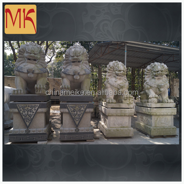 outdoor garden decoration stone Carving marble foo dogs