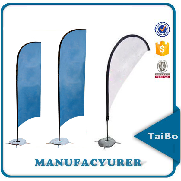 Hot sale flying banner tear drop flags poles, custom feather beach banners poles