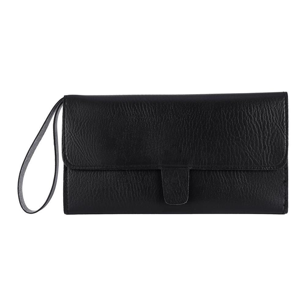 PU Leather Professional Hair Scissors Case Salon Tool Pouch Bag