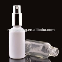 white colored empty glass 50ml 100ml 5ml 10ml glass bottle for hair care essential oil
