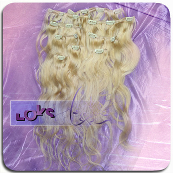 Wholesale Price 613# Color Full Head Straight Eurasian Hair Clip in Hair Extension