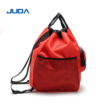 Promotional Sports Cinch Bag Cheap 210 Denier polyester Nylon Drawstring Backpack small shopping bags