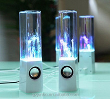 Water dancing bluetooth speaker 2.0 usb power speaker with led light