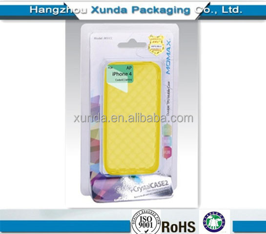 Cell phone blister packaging