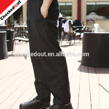 Hot sale restaurant uniform,high quality cook hotel trousers,black kitchen chef pant