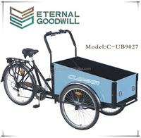 2015 popular carry Child Electric Electric cargo bike cargo tricycle cargo trike front box