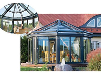 Special Design Fan Shaped Free Standing Aluminum Glass Sun Rooms