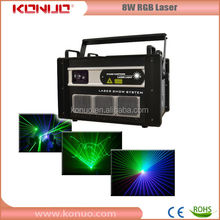 8W RGB full color dj laser