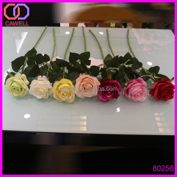real touch silk happy valentine single stem rose flower