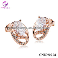 Wholesale korean jewelry Rose gold plated earrings with 2014 unique design