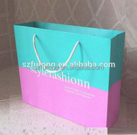 High quality custom printed empty arcylic paper bags no minimum