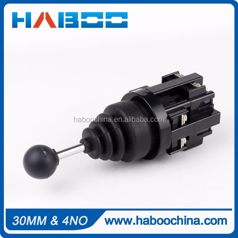 30mm Monolever switch 4 way joystick switch returnable or stable joystick switch momentary / self-locking 4NO