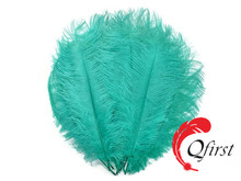 Cheap price plume crafts wholesale large dyed mint green ostrich feathers for party decorations