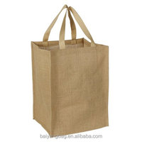 Eco-friendly Reusable Bag Women grocery jute shopping tote bag