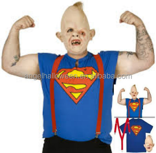 Adults Deluxe Latex Goonies Sloth Mask Fancy Dress Halloween Party Costume AGM2751