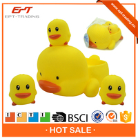 ICTI proved mini flating bath rubber duck toy for babies