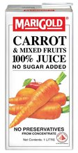 MARIGOLD CARROT & MIXED FRUITS 100% Juice No Sugar Added
