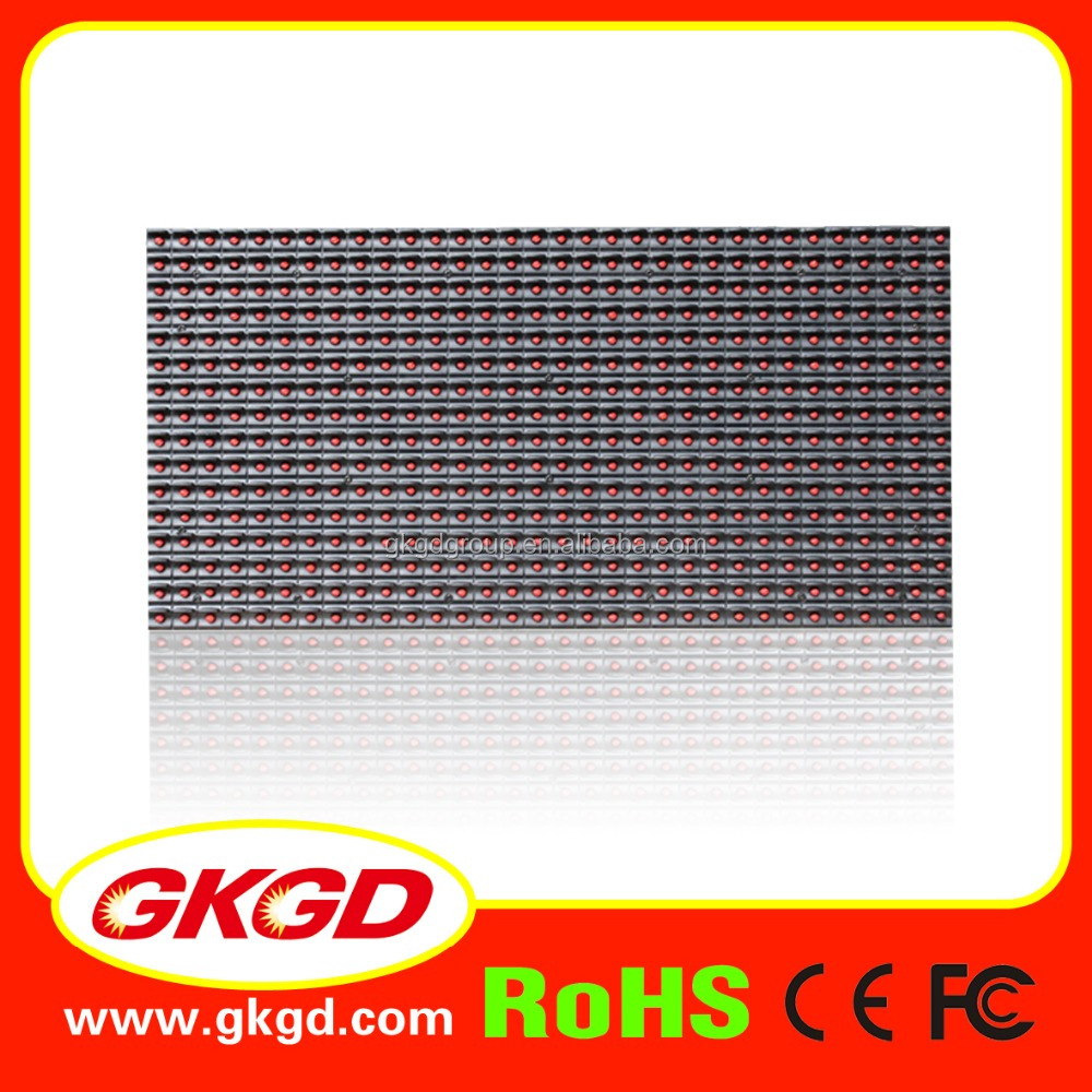 GKGD P10 single Red color 32*16 cm outdoor P10 <strong>LED</strong> module <strong>display</strong>