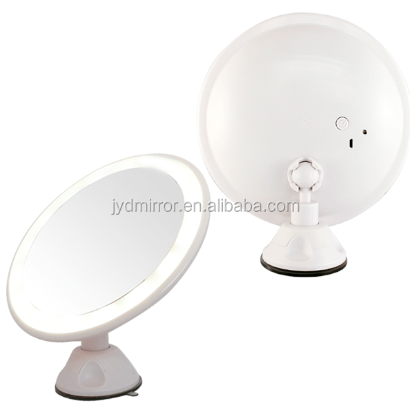 Adjustable lighted Fogless shaving mirror with strong suction cup for man's bathroom