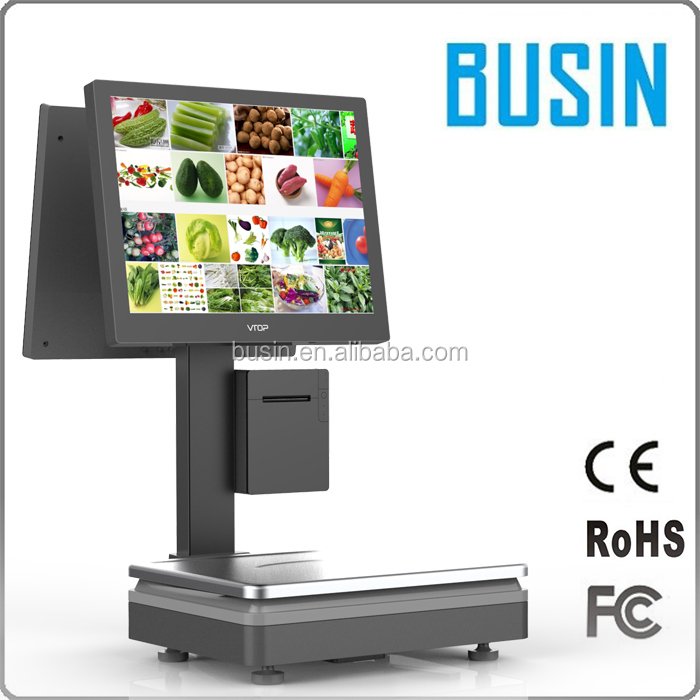 Market retail shop acs -15 price computing scale electronic 15kg with pos system hardware