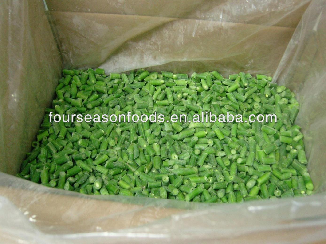 wholesale A Grade frozen/IQF fresh green beans in bundle /cut/whole in 2016 in competitive price ,chinese frozen vegetables