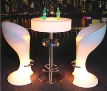 copper bar rgb led bar chair&table and chair for night club set&led glow bar table chairs