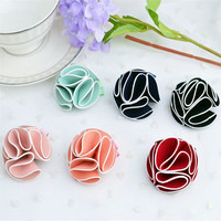 2015 Children latest hair styles using hair clips stereoscopic flower unique kids hair accessories fashion style AEB1011-3
