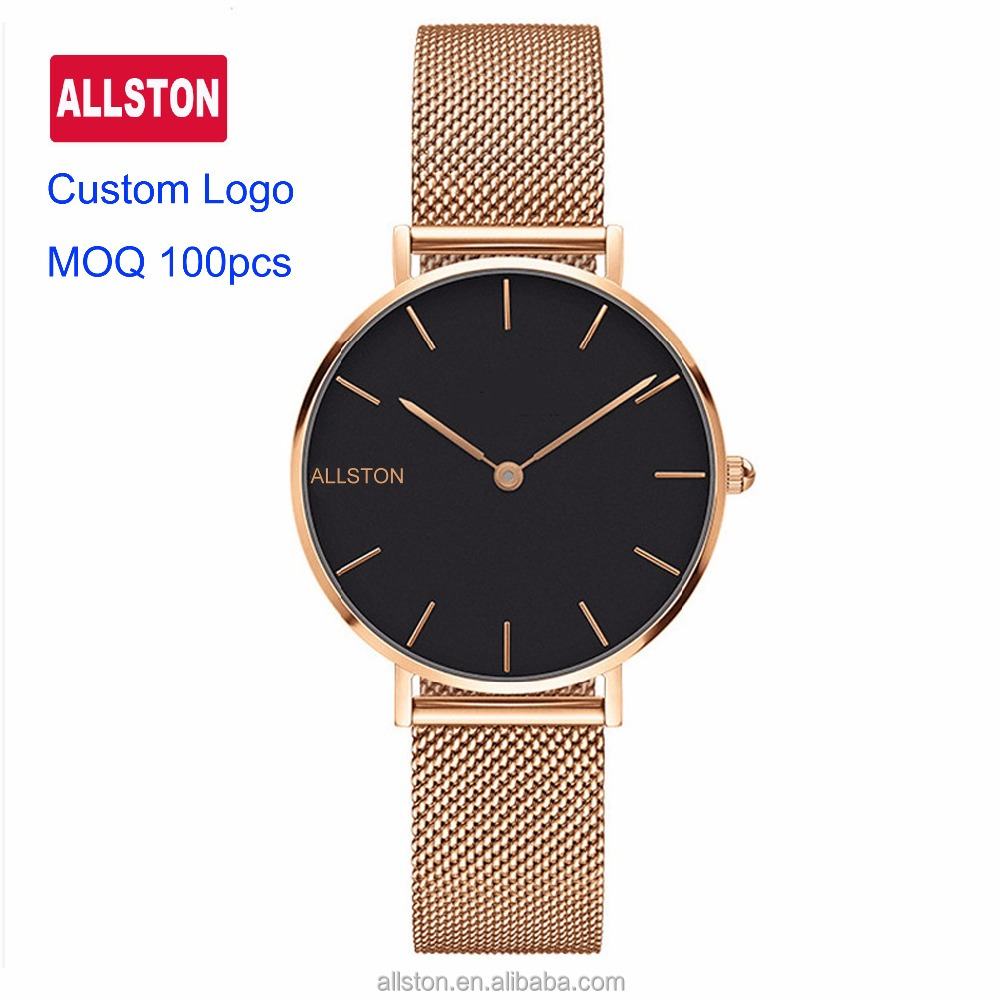 2017 Alibaba Hot Sell Man High Quality Japan Movement Quartz Mesh Strap Quick Release Stainless Steel Watch