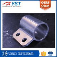 CNC machining aluminium pipe clamp parts
