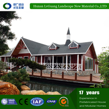 WPC timber frame house log cabin prefabricated wooden bungalow house mobile light portable tourist portable home