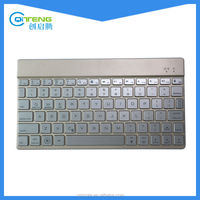 Ultra-Thin Aluminum Bluetooth Wireless Keyboard With 7 Color Backlit For Android,IOS