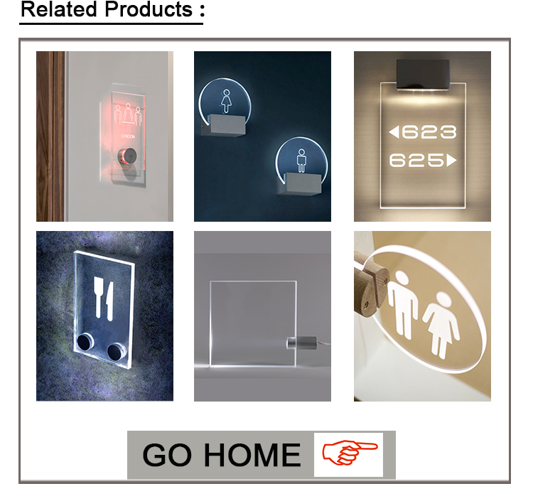 Top supplier acrylic led exit sign with custom logo
