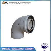 China Wholesale 90 Degree Condensing Flue Pipe Elbow Fittings For Gas Boiler