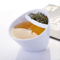new product tea cups with strainer&ceramic/plastic tea cups