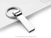 USB 2.0 and 3.0 high speed laser engraved customize logo stainless steel real capacity usb flash pen drive with key chain ring